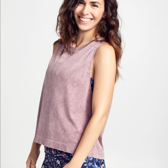 soulcycle Tops - SOULCYCLE Mineral Wash Boxy Tank Top